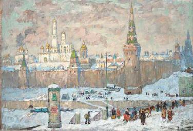 Winter view of the Kremlin, Mo