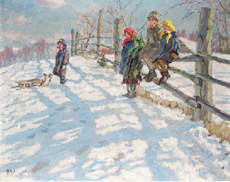 Children in a Winter Landscape
