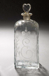 an Imperial glass half-shtoff