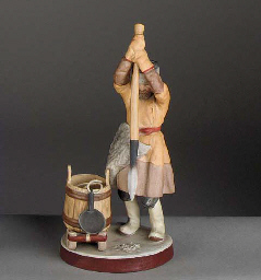 a biscuit figure of a fisherma