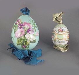 Two porcelian Easter eggs