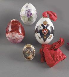 Four porcelain Easter Eggs