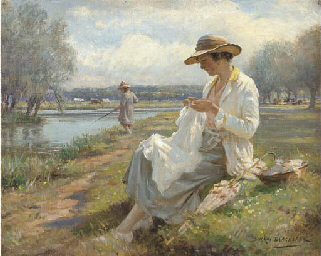 Sewing by the River