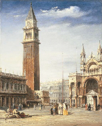 VENICE: VIEW OF THE PIAZZETTA,