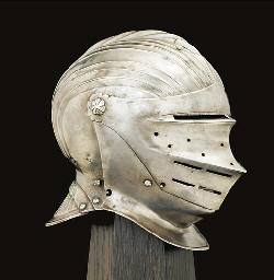 A GERMAN CLOSE-HELMET