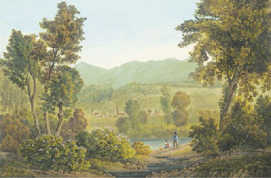 Vue des environs de Sallanches