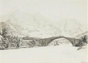 Vue de Sallanches avec le pont