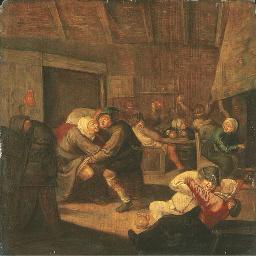 L'intérieur d'une taverne