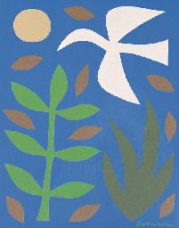 White Bird in the Garden II