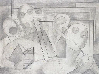 Study for 'Art Critics'