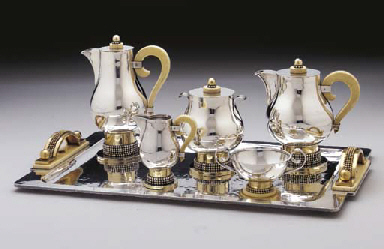 A SILVER, VERMEIL AND IVORY CO