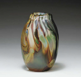 A FAVRILE GLASS PAPERWEIGHT VA