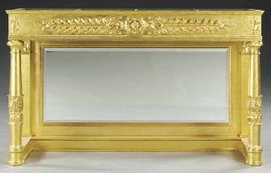 AN EMPIRE STYLE GILTWOOD CONSO