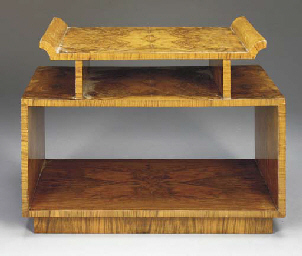 A CUSTOM AMBOYNA LOW TABLE