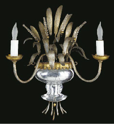 A FRENCH SILVERED-METAL, GLASS