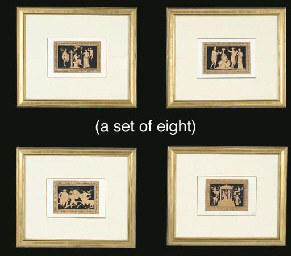 A SET OF EIGHT HAND-COLORED NE