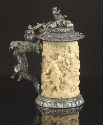A silver-gilt mounted small iv