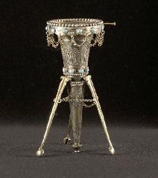 A Victorian silver-gilt posy h