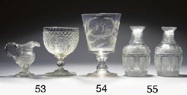 A quantity of cut-glass