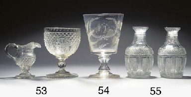 Eight various decanters and st