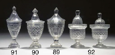 A cut-glass preserve-jar and c