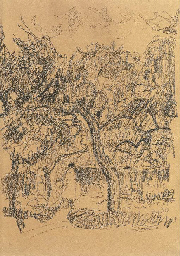 Frau unter Apfelbaum, 1930