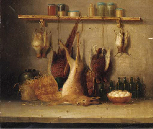 Game in a larder; and The day'