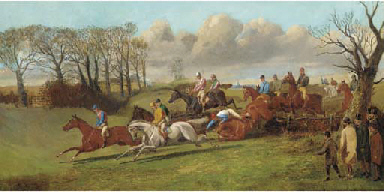 Over the fence, a steeplechase