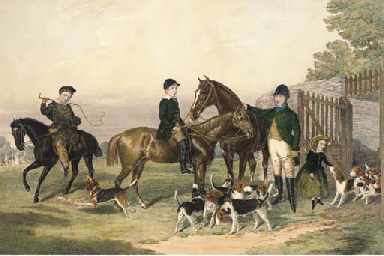 Lord Andover's Beagles, by E.