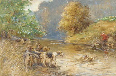 Mr W. Thompson's otter hounds