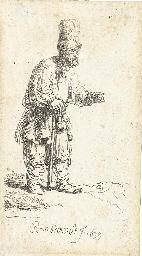 A Peasant in a high Cap, stand