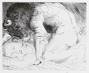 Minotaure caressant une Dormeu