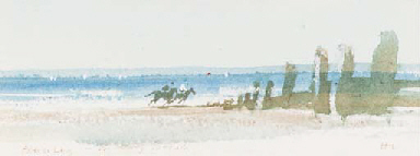 Exercising: Wittering Beach
