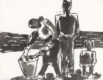 Family with Basket of Fish