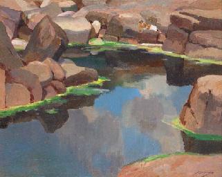 The Pool in the Rocks in Lamor