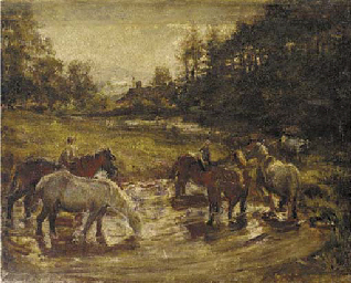 Horses at the Ford