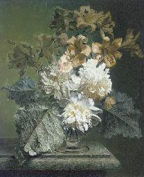 Yellow Lillies and White Peoni