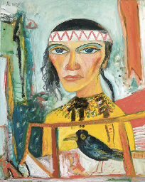 Portrait of a Lady with Crow
