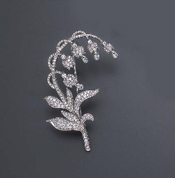 auction brooch lily valley white gold edea
