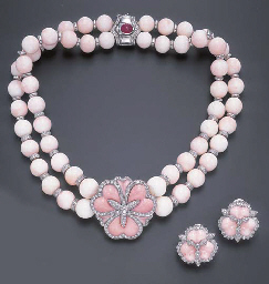 **A SUITE OF CORAL AND DIAMOND