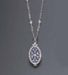 A FINE ART DECO DIAMOND AND SA