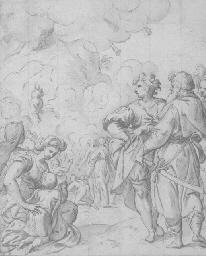 Les prêtres transportant l'Arc