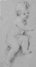 Putto assis