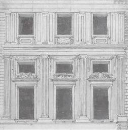 Elévation d'une façade d'un pa