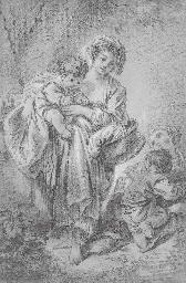 Une jeune fille, un bébé dans