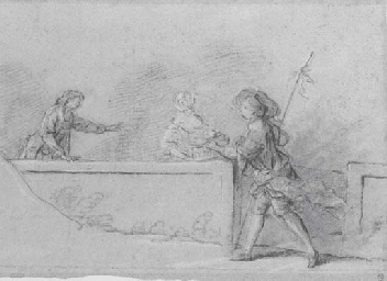 Une jeune fille tenant une cor