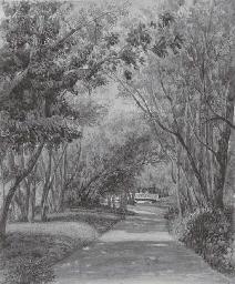 Une avenue du parc au château