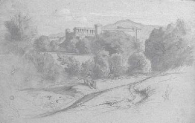 Une vue de la campagne romaine