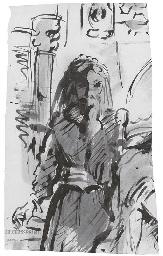Une femme debout, pour La Roma