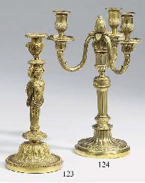 A French ormolu candlestick, c